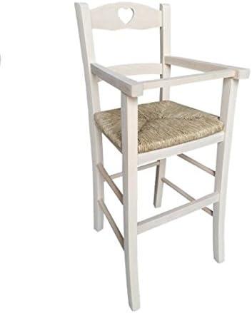 Chaise Haute Siege Chaise Bebe Luxe Chaise Haute En Bois A Peindre Avec Assise En Paille Diy Brut Premonte Amazon Fr Cuisine Maison