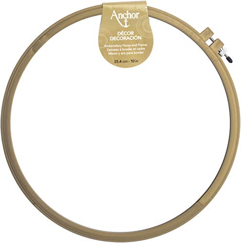 "Anchor A4402.010 Décor Embroidery Hoop, 10"", Silver/Gold/Copper"
