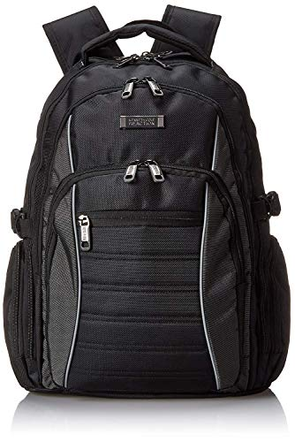 (Kenneth Cole Reaction No Looking Back 1680d Polyester Triple Compartment 17.3