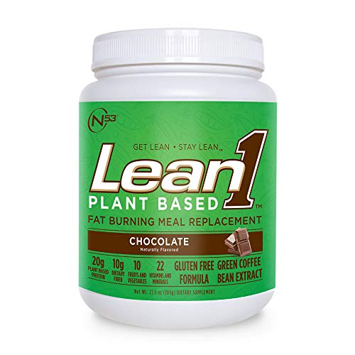 LEAN1 Nutrition 53 Meal Replacement Powder for Weight Loss, Fat Burner, Appetite Control, Plant Based Chocolate (27.5 Ounce)