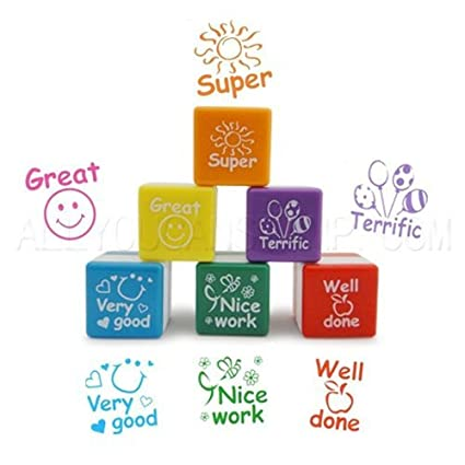 Teachers Self Inking Rubber Stamp Set