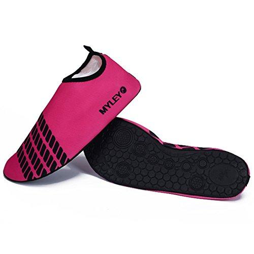 Norbi Outdoor Running Swimming Beach Zapatillas De Agua Aqua Light Unisex Rojo