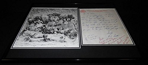 Autographed Chuck Foreman Photograph - Framed 16x20 Response to Fan Letter & Snow Display - Autographed NFL Photos Foreman Photograph