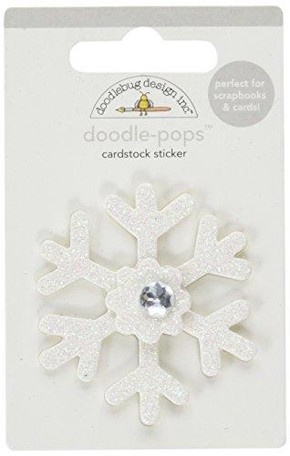 - DOODLEBUG 3013 Doodle-Pops 3D Stickers-Polar Pals Snowflake, White
