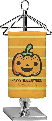 YouCustomizeIt Halloween Pumpkin Finger Tip Towel - Full Print (Personalized)]()