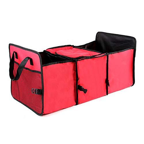 SENLIXIN Car Organizer Trunk Storage Bag Box Caddy Case Basket Travel Foldable Duffel Bag Car Trunk Travel Camping Home Toys (Red)