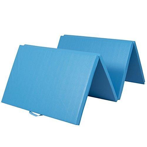 4'x10'x2'' Gymnastics Gym Folding Exercise Aerobics Mats Blue Stretching Yoga Mat by MEE TONG SHOP (Image #2)