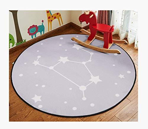 (Wanrane Carpet Padding Doormat Interior Carpet Carpet Cartoon Rug Children's Mat Series - Round Carpet Blanket (Color : 2#, Size : Round 120cm) (Color : 2#, Size : Round 100cm))