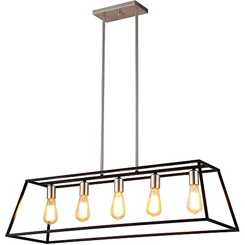 Ove Decors Agnes II Pendant Light Fixture, Black & Bronze (Colored Kitchen Pendant Lights)