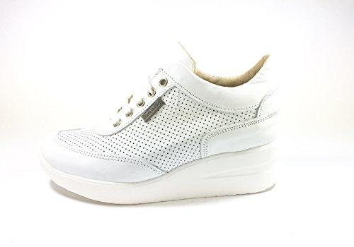 Tomax - Zapatos de cordones de Piel para mujer multicolor multicolor 36 BIANCO PELLE