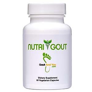 Nutrigout - Uric Acid Support Formula by GoutandYou - 500 mg 60 Vegetarian Capsules