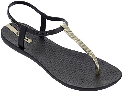 Ipanema Damensandalen, Damenzehentrenner Charm V Sandal 82283 schwarz-golden (20903)