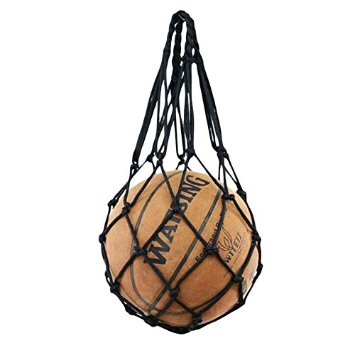 George Jimmy Black Football Volleyball Net Mesh Bag Basketball Training Carry by George Jimmy