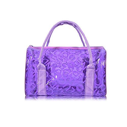 de y de Natación Chicas Bolsas Viajar Playa de Púrpura Negro Playa Cosméticos Hombro Colores Bolsas Portátil Transparente iSpchen Bolso Dulces de Bolso Impermeable de para Mujeres Moda para PVC PYwgq8