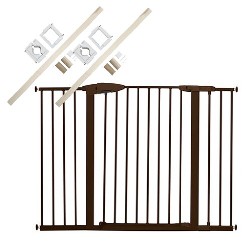 Munchkin Easy Close Metal Extra Tall & Wide Safety Gate with 2 Universal Stairway Gate Installation Kits