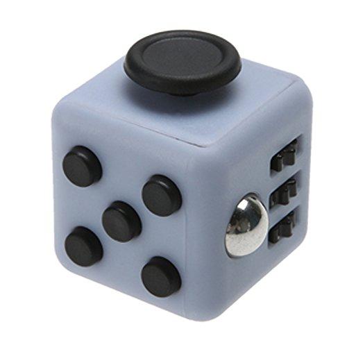 Magic Fidget Cube Anti-anxiety Adults Stress Relief Kid Toy (Gray - Black)