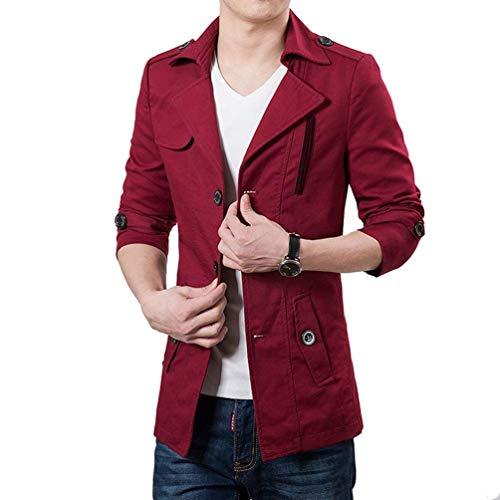 Blazer À Leisure Slim Blouson La Rouge Outwear Manteau Retro coat Homme Mode Veste Hommes Décontractée Trench Fit Suit 1qFBU1OrRw
