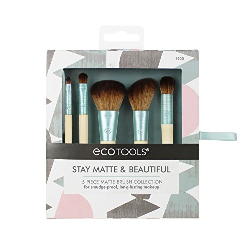 EcoTools--Cruelty Free Stay Matte & Beautiful Kit--Complexion Blending, Full Concealer, Angled Blush, Accent Shadow, Detailed Lip