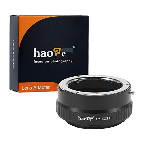 Haoge Manual Lens Mount Adapter for Contax Yashica C/Y CY Lens to Canon RF Mount Camera Such as Canon EOS R