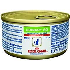 (Royal Canin Veterinary Diet Urinary SO Moderate Calorie Morsels in Gravy Canned Cat Food 24/3 oz)