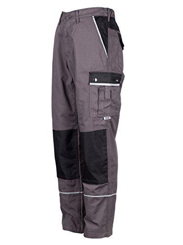 TMG® - Herren Bundhose/Cargohose mit Kniepolstertaschen - strapazierfähig - Grau (W32 R / EU48)