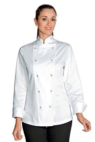Tessuto Lady Gr 100 Lunga Cotone 22609 Bianco Antipanico m² Giacca S Bottoni Chef 190 Manica Isacco Bianco F5PqwnO