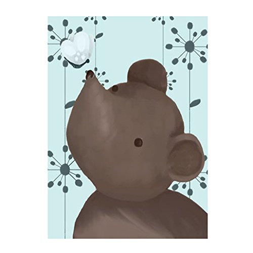 Oopsy Daisy Nosey Posey Canvas Wall Art, Blue, 24 x 18'' by Oopsy Daisy
