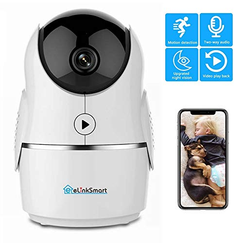 WiFi Camera 1080P 2MP IP Home Security Camera Baby Monitor PTZ, Night Vision, 2-Way Audio,Video Recording, Motion Detection, Call Function, Cloud Storage Service
