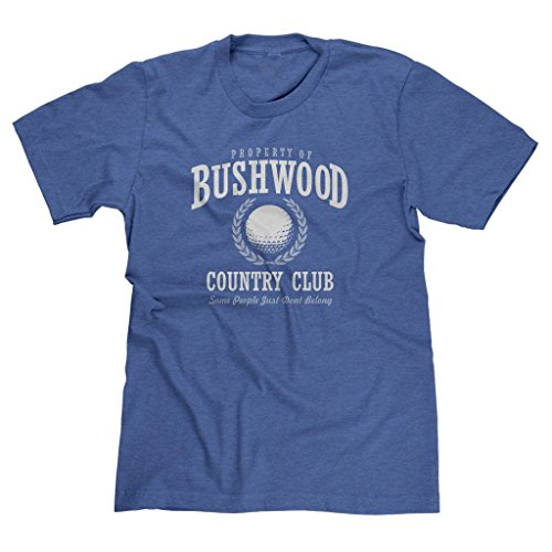 FreshRags Bushwood Country Club Funny Caddyshack Parody Men's T-shirt LG Htr. Royal 385