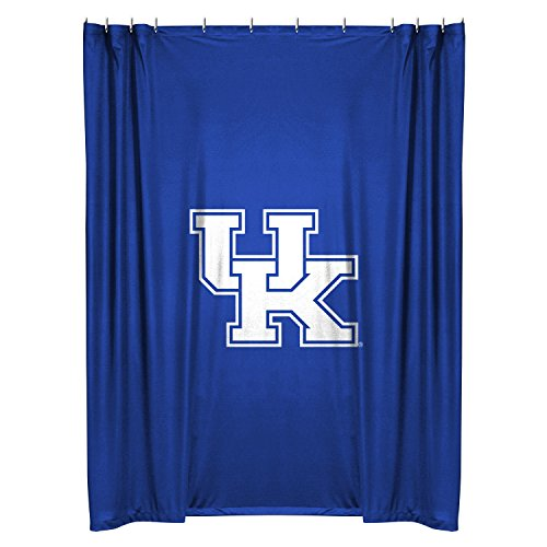 Kentucky Wildcats COMBO Shower Curtain, 4 Pc Towel Set & 1 Window Valance/Drape Set (63 inch Drape Length) - Decorate your Bathroom & SAVE ON BUNDLING! by Sports Coverage