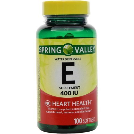 Spring Valley Vitamin E 400 IU Water Soluble 100 Softgels - 400 Iu Water