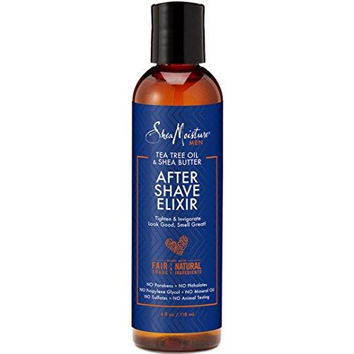 Shea Moisture Tea Tree Oil & Shea Butter After Shave Elixir for Men, 4 Ounce Tea Tree Oil Shaving