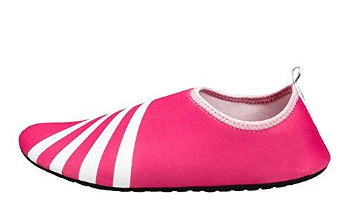 Cystyle - Sandalias Romanas Mujer rosa y blanco