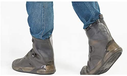 防寒 シューズカバー 防水防風靴カバー耐摩耗靴カバー乗馬ハイキング靴カバー滑り止めの靴カバー 携帯便利 シューズカバー (Color : Brown, Size : S)