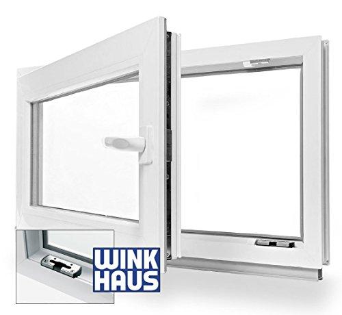 Kellerfenster Kunststoff Fenster Dreh Kipp 100 x 40 cm / 1000 x 400 mm Winkhaus Beschlag Isolierglas DIN Rechts