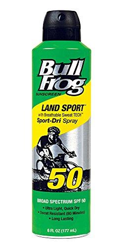 (Bullfrog Sunscreen Land Sport-Dri Spray SPF50, 6 oz)