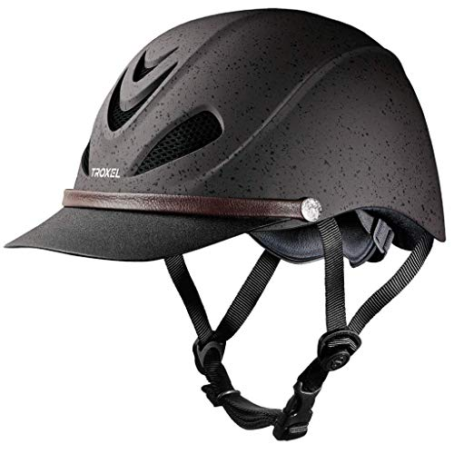 Troxel Dakota Grizzly Brown Lightweight Trail Equestrian Helmet SEI/ASTM Certified (Small)