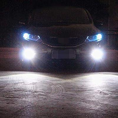 Alla Lighting 2504 PSX24W LED Fog Light Bulbs Super Bright High Power 50W 12V 12276 Replacement, 6000K Xenon White: Automotive