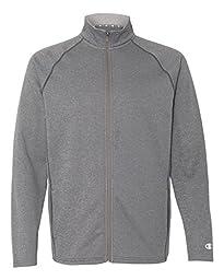 Champion 5.4 Oz. Performance Fleece Full-Zip Jacket, Slate Gray Hthr, L