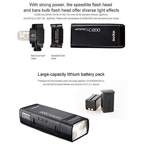 GODOX AD200 TTL 2.4G HSS 1/8000s 2Pcs Pocket Flash Light Double Head 200Ws with 2900mAh Lithium Battery+GODOX XPro-O TTL Flash Trigger Compatible for Olympus Cameras by Godox (Image #8)