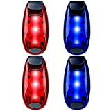 UMISHI 4-Pack LED Safety Lights Clip on Flashing Strobe Light High Visibility for Running Jogging Walking Cycling Best Reflective Gear for Kids Dogs Bicycle Helmet Bike Tail Light