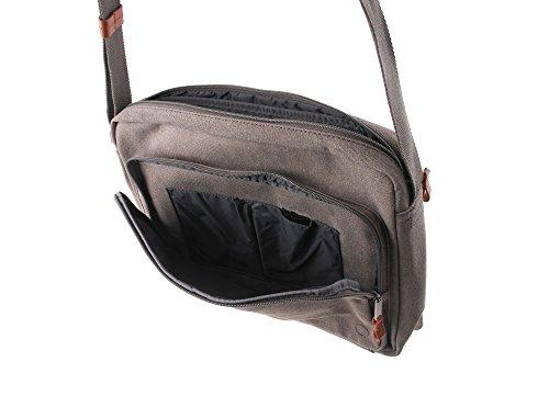 Bree Cain 5 14 Borsa messenger per laptop grigio chiaro