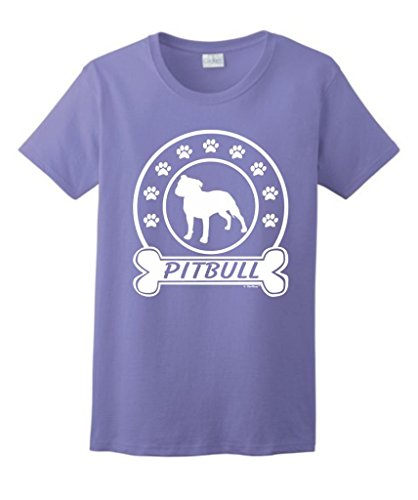 I Love my Pitbull, Dog Bone Ladies T-Shirt Medium Violet
