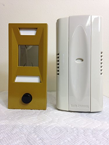 Auth Florence, Non Electric, Mechanical Door Chime, Doorbell and Viewer #689 (Gold Powder Coated Metal) by Auth Chimes