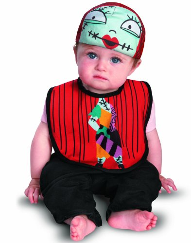 Disguise The Nightmare Before Christmas Sally Infant Bib and Hat, 0-12 (Nightmare Before Christmas Girl)
