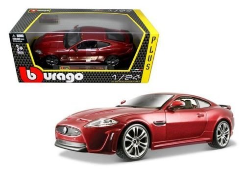 NEW 1:24 W/B BBURAGO PLUS COLLECTION - RED JAGUAR XKR-S Diecast Model Car By ()