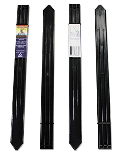 Beach-N-Sand Stake 4 Pack 24.5in x .625in x 2in Super Tough No Rust Tent Portable Canopy Stake