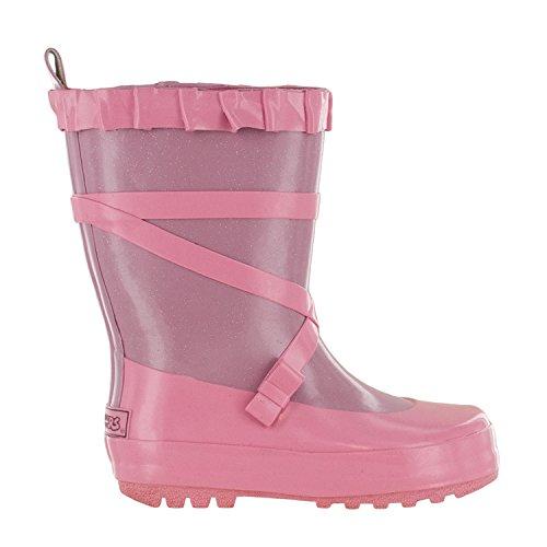 Northside Splashers Girl's Ballerina Rubber Waterproof Rain Boot (Little Kid/Toddler), Lt Purple/Lt Pink, Size 2 by Northside (Image #5)