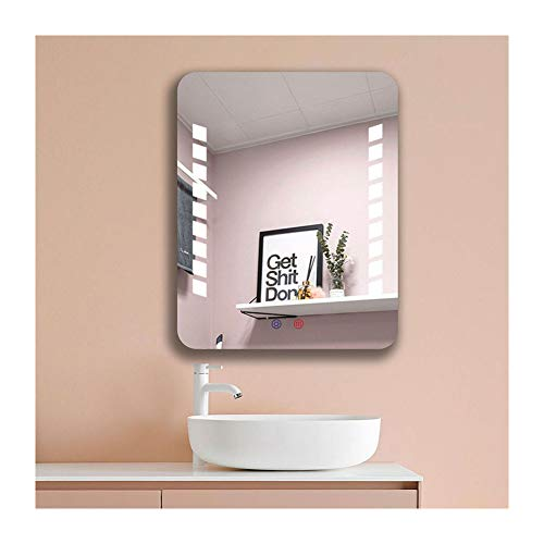 GJRYSL 500x400mm Bathroom LED Mirror with Light, Touch Control Sensor,Demister and Wall -