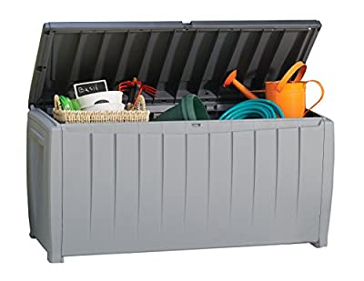 Keter 235484 Novel 90 Gallon Plastic Deck Storage Box